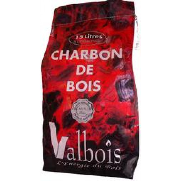 achat sac charbon de bois valbois 15 litres. Black Bedroom Furniture Sets. Home Design Ideas