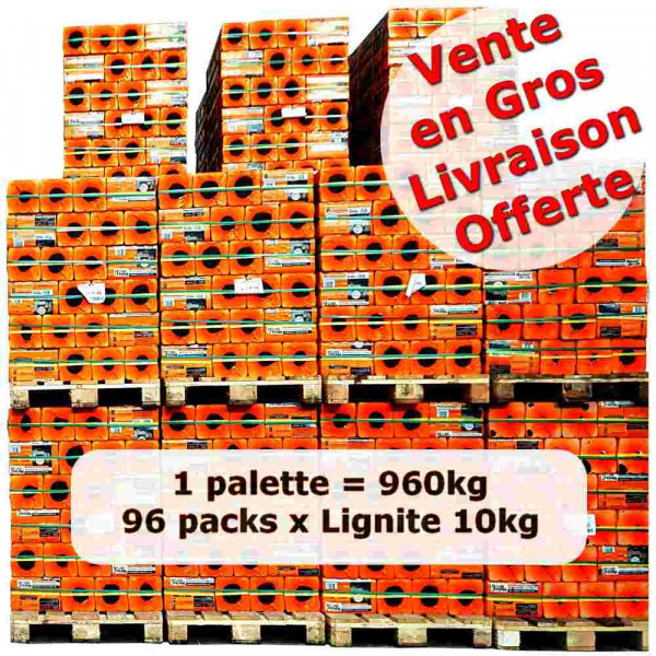 achat vente briquette de lignite 10 kg en gros. Black Bedroom Furniture Sets. Home Design Ideas