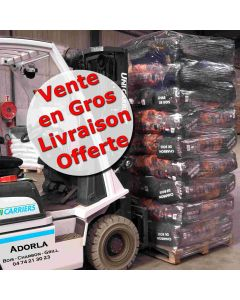 Lot Charbon de Bois 54 sacs de 50 Litres