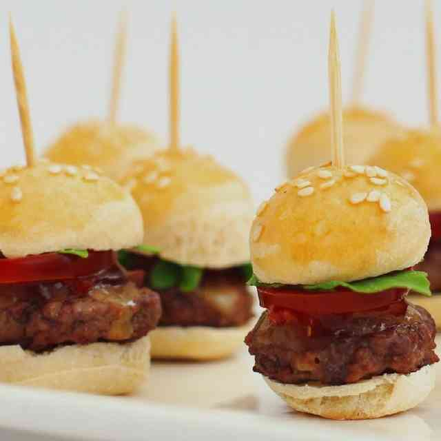 Mini burger au barbecue